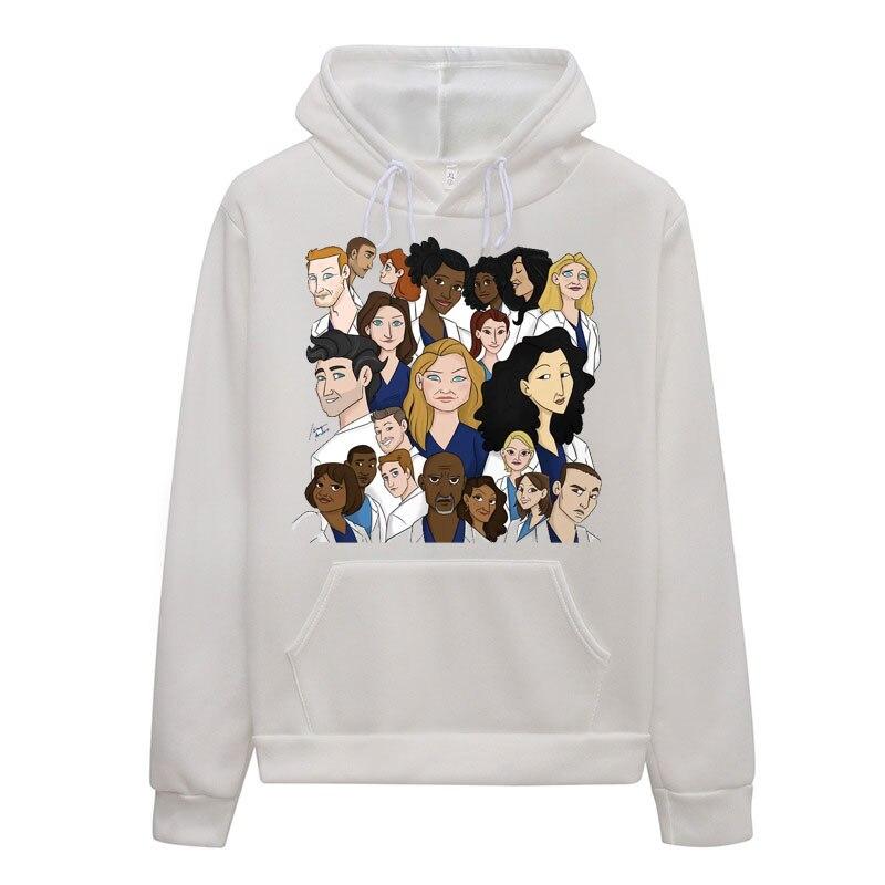 2019 Female Sweatshirt Greys Anatomy Hoodie Women Long Sleeve Pullover Spring Autumn Women's Hoodies Harajuku 90s Kawaii Clothes