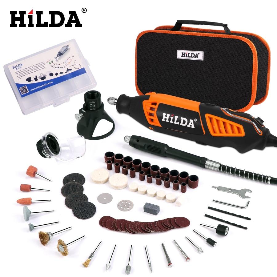 HILDA Electric Mini Drill Variable Speed Rotary Tool For Dremel Mini Electric Grinder Dremel Accessories Drill Machine