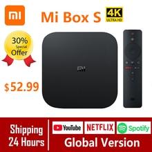 Xiao mi mi Box S Globale Version 4K TV Box Cortex A53 Quad Core 64 bit Mali 450 Android 2GB + 8GB HD mi 2,0 Google BT4.2 TV Box Fall