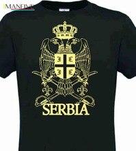 2019 Hot Sale Summer Style T-Shirt Serbien Srebija Belgrad Serbia NEU Schwarz TOP Tee shirt