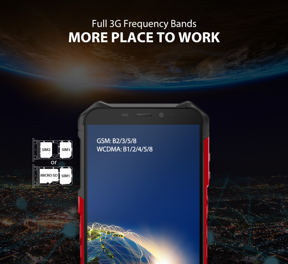 """Hae83bba43c014951845d24b75cf5d5478 Ulefone Armor X3 Rugged Smartphone Android 9.0 IP68 Android 5.5"""" 2GB 32GB 5000mAh 3G Rugged Cell Phone Mobile Phone Android"""
