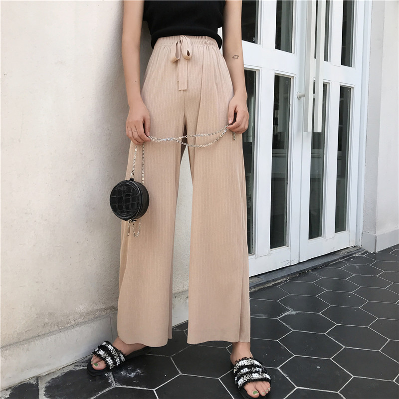 Photo Shoot Korean-style Summer New Style Pendant Sense Viscose Loose Pants Straight-Cut Capri Pants + Knitted Vest
