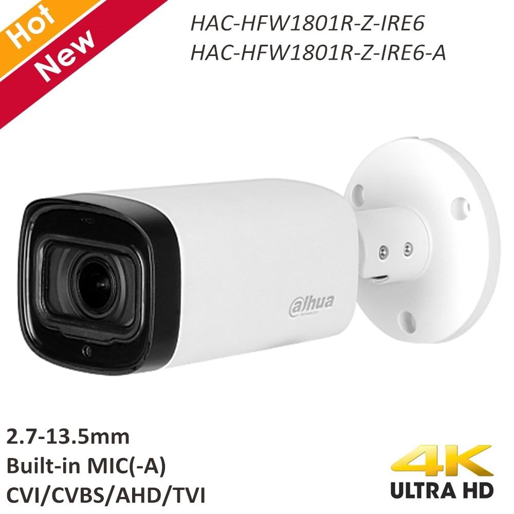 Dahua 4K HDCVI Camera 2.7-13.5mm Motorized Lens Built-in MIC (-A) CVI CVBS AHD TVI Switchable Smart IR 60m CCTV Camera