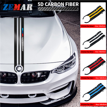 Carbon Fiber Car Styling Stickers Car Hood Sticker Decals For BMW E46 E90 E60 E39 E36 F30 F10 F20 X5 E53 G30 E91 F31 Accessories image