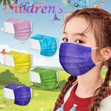 Masque jetable en tissu Spunlace, lot de 10 ou 20/50 pièces, bavettes auriculaires de différentes couleurs, respirantes, avec 3 couches en relief, 2021