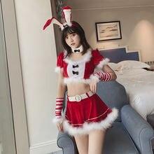 Соблазнительное платье Санта Клауса красное рождественское нижнее
