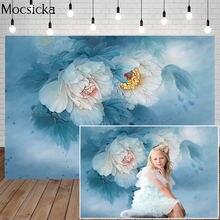 Mocsicka фон для фотосъемки с изображением цветов чернилами