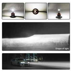 Image 4 - Ароуз H4 Hi короче спереди и длиннее сзади) автомобиль светодиодный лампы для передних фар H7 H11 9005 9006 36 Вт 6000LM 6000K COB светодиодный авто фары Светодиодный светильник освещение лампы 12v 24v