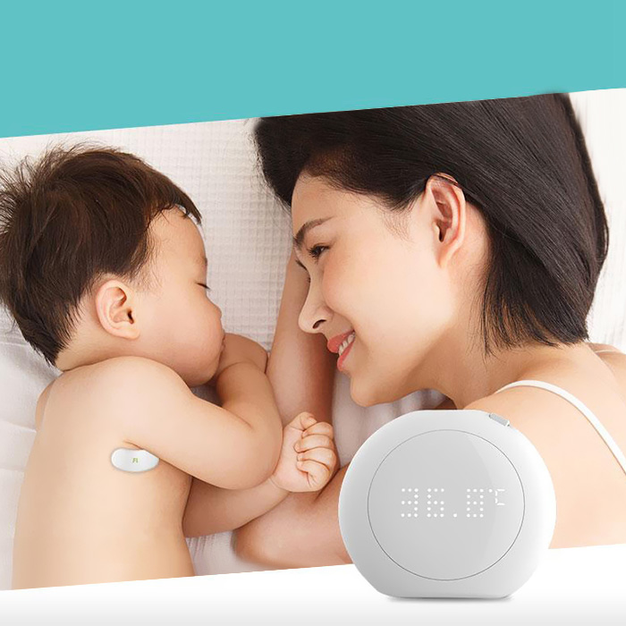 Fanmi FL - BFM001 Thermometer 24 Hour Smart Baby Fever Monitor Wireless Alerts Wearable Digital for Infant Toddlers 1