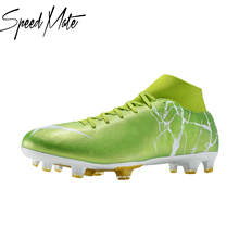 8 Colors Speedmate FG Soccer Shoes Top Quality Breathable Football Boot Adult High Ankle Outdoor Sport Training Cleats