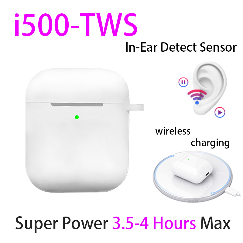 Original I500 TWS 1:1 In-ear Bluetooth 5.0 Earphone Aire2 Wireless Headphone Headsets Aire 2 Elari Open Lid Pop Up Real Capacity