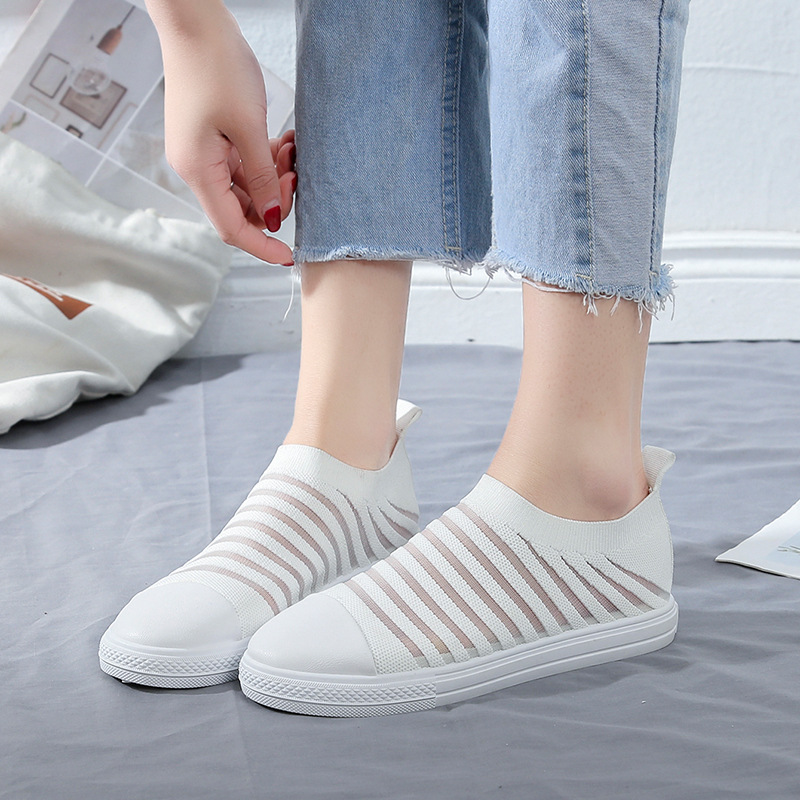 Women Shoes 2019 New Lady Shallow Slip On Breathable Mesh Summer Autumn Shoes Gingham Casual Shoes for Women AELNN230 in Women 39 s Vulcanize Shoes from Shoes