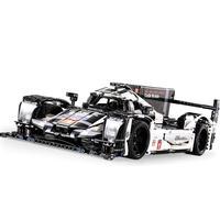 C61016W 1:9.5 RC Remote Control Racing Car Toy Assembled Building Blocks For 919 Model Assembling Racing Car 1586PCS