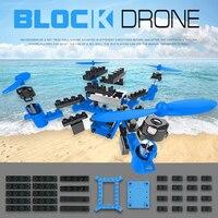 Mini Dron teledirigido de 2,4G con cámara, 35 Uds., bloques de construcción, cuadricóptero RC de altura fija, juguete educativo profesional para helicóptero