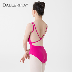 Image 2 - Ballerina Ballet Leotards For Women Yoga Sexy aerialist Dance Costume mesh gymnastics Sleeveless Leotards 2518
