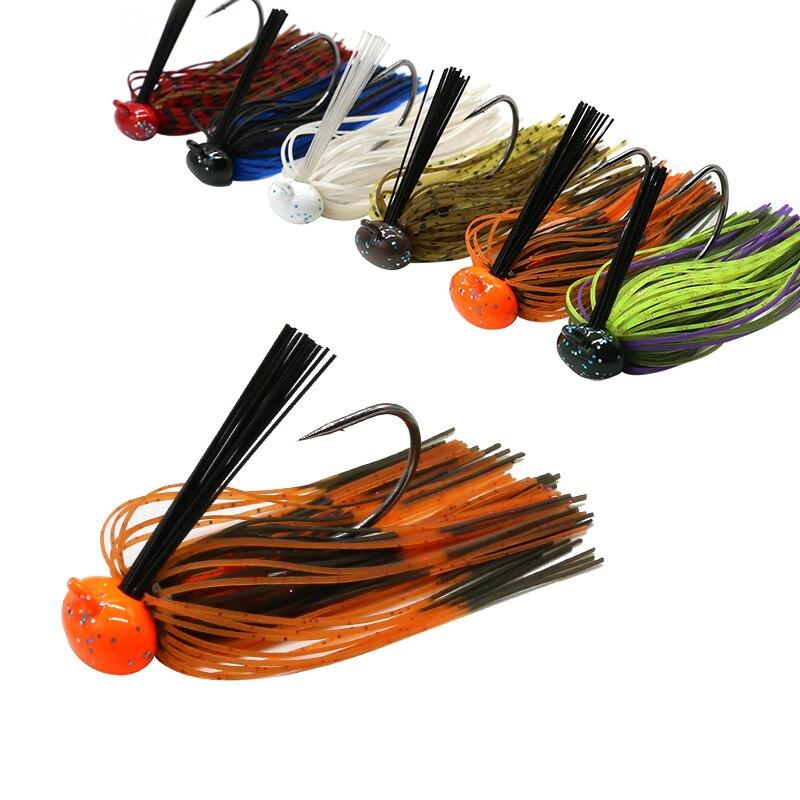 JonStar 12pcs/lot 7G/13G/16G chatterbait fishing lure Buzzbait chatter bait wobbler rubber skirt for bass pike walleye-2