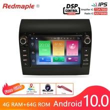 4G RAM Android 10.0 Car Radio DVD Player GPS Multimedia Stereo For Fiat Ducato 2008 2015 Citroen Jumper Peugeot Boxer Navigation
