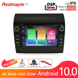 4G RAM Android 10.0 Car Radio DVD Player GPS Multimedia Stereo For Fiat Ducato 2008-2015 Citroen Jumper Peugeot Boxer Navigation