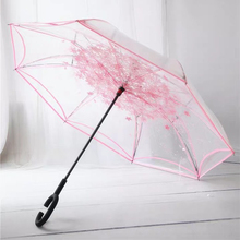 Inverted Folding Reverse Umbrella Double Layer Unbrella Cloth Umbrellas For Women Transparent Unbrellas Windproof Rainproof