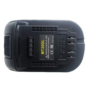 Image 2 - Adaptador de batería Mt20Dl para Makita 18V Bl1830 Bl1860 Bl1815 batería de iones de litio para Dewalt 18V 20V Dcb200 luz de pared de batería de iones de litio