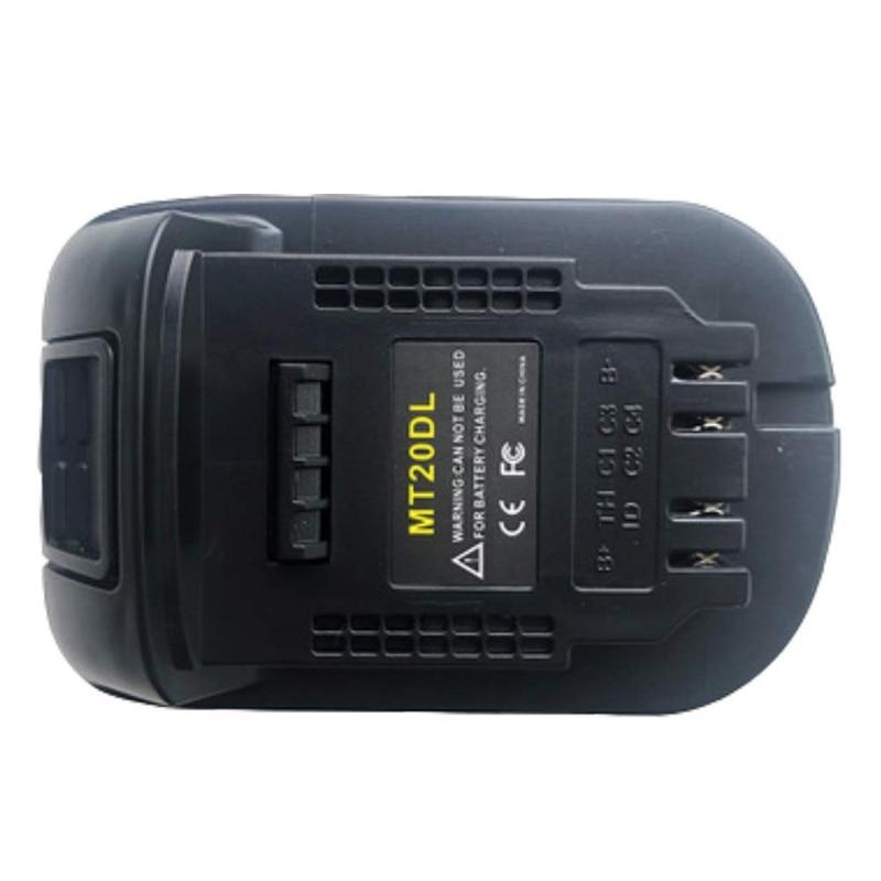 Image 2 - Mt20Dl Battery Adapter For Makita 18V Bl1830 Bl1860 Bl1815 Li Ion Battery For Dewalt 18V 20V Dcb200 Li Ion BatteryBattery Accessories & Charger Accessories   - AliExpress