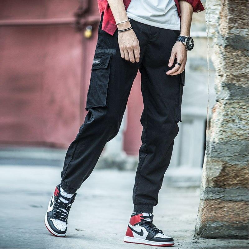 2019 Autumn New Style Fashion MEN'S Overalls Teenager Students Solid Color Highwaist Velvet Korean-style Long Pants Men's