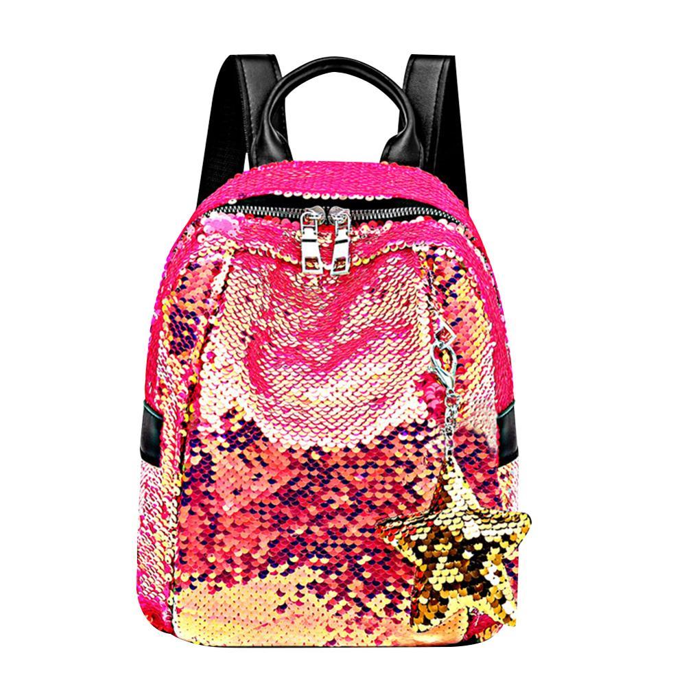 Fashion Mini Gradient Sequins Backpacks Mochila Feminina Pendant Shoulder Bag For Women Girls Kids School Book Bags Bolsas Mujer
