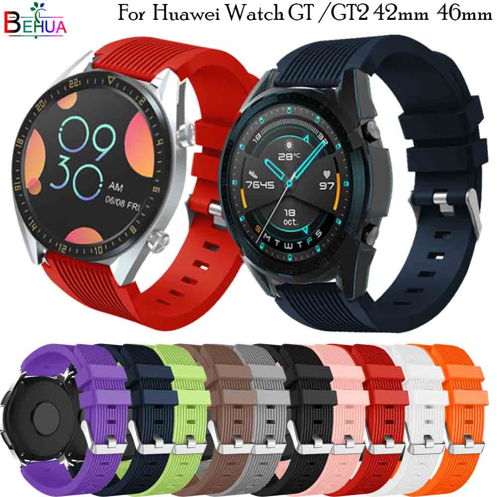 For HUAWEI WATCH 2 Pro Silicone Bracelet Wrist Band For Huawei Watch GT GT 2 46MM Replacement 22MM Smart Watch Strap Wristband