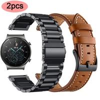 Originele Band Voor Huawei Horloge GT2 Pro Honor Magic Horloge Band Voor Huawei Gt 42Mm Gt 2 46Mm 22Mm Rvs Riem Polsband