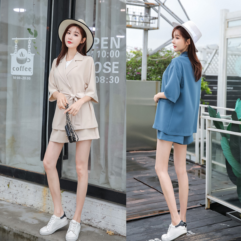 New Style Two-Piece Set Non-mainstream Summer Wear Playful Fashion Western Style Online Celebrity Very Fairy Small Suit Shorts S
