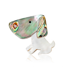 Factory direct spot natural high-grade abalone shell series European and American fashion dog brooch cross-border sales