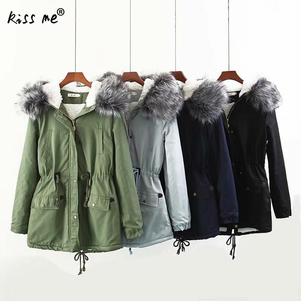 Winter Cotton Outdoor Down Coat Women Camping Hiking Jacket Solid Hooded Thermal Warm Coat Casual Style Jacket Waist Control