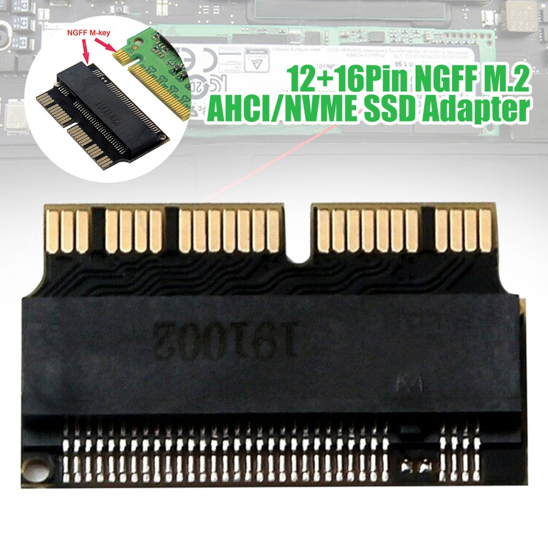 M.2 NGFF AHCI/NVMe SSD Converter Riser Card Suitable For 2013-2017 MacBook Air And Pro Hard Drives