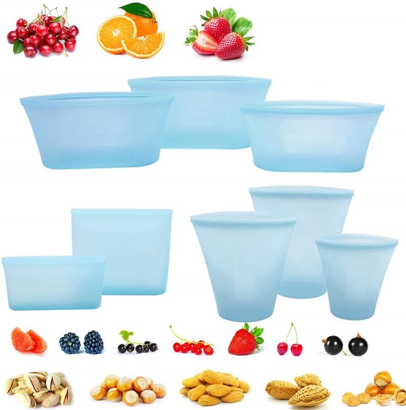 蓝色 杯子碗袋子8件套 T8