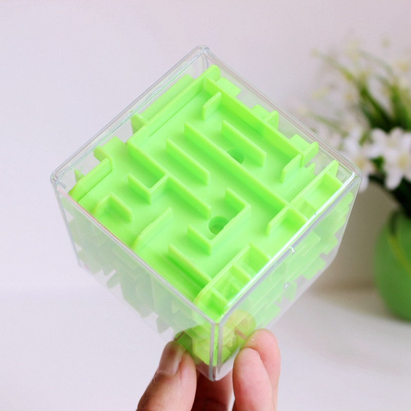 Patience Games 3D Cube Puzzle Maze Toy Hand Game Fun Brain Game Challenge Toys Balance Educational Toy for Children