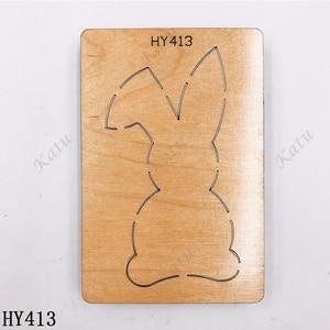 Image 3 - Деревянная высекальная Штамповка с милым кроликом подходит для стандартных высекальных машин на рынке