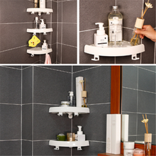Bathroom Snap-up Shelf Multi-functional Storage Rack (No Drilling)  with 2 Hooks, popular TV Item