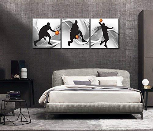 3 panneaux de basket-ball sport thème toile Art mural pour garçons chambre mur Art moderne impressions sur toile livraison directe