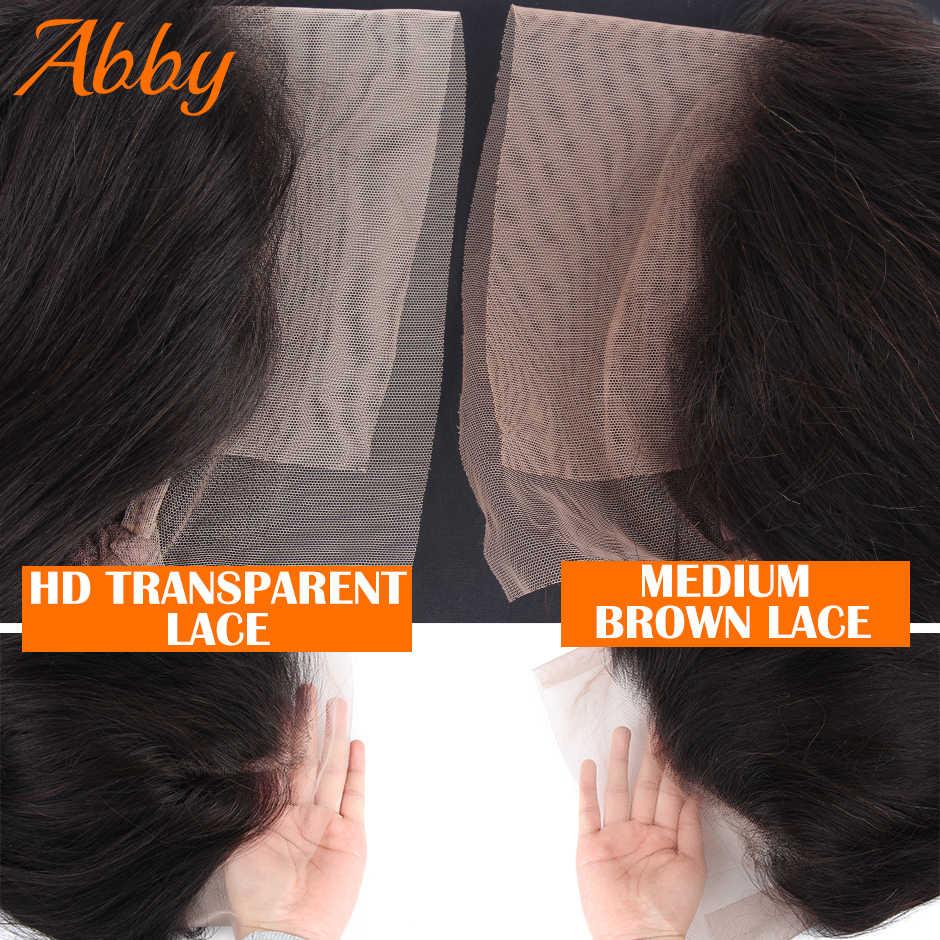 ABBY saç Bob peruk perulu su dalgası HD şeffaf dantel peruk 13x6 dantel Frontal İnsan saç peruk 150% yoğunluk Bob peruk