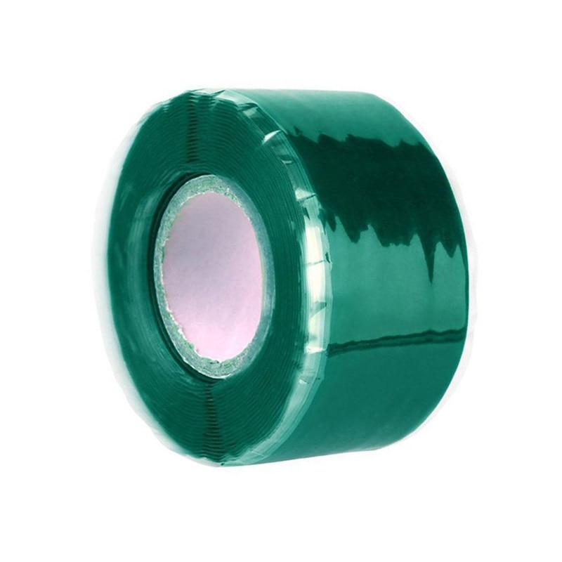 Силиконовая Водонепроницаемая лента для ремонта, склеивающая спасательная самосплавляющаяся проволочная лента, черная прозрачная пленочная лента, клейкая лента, Лидер продаж - Цвет: Зеленый