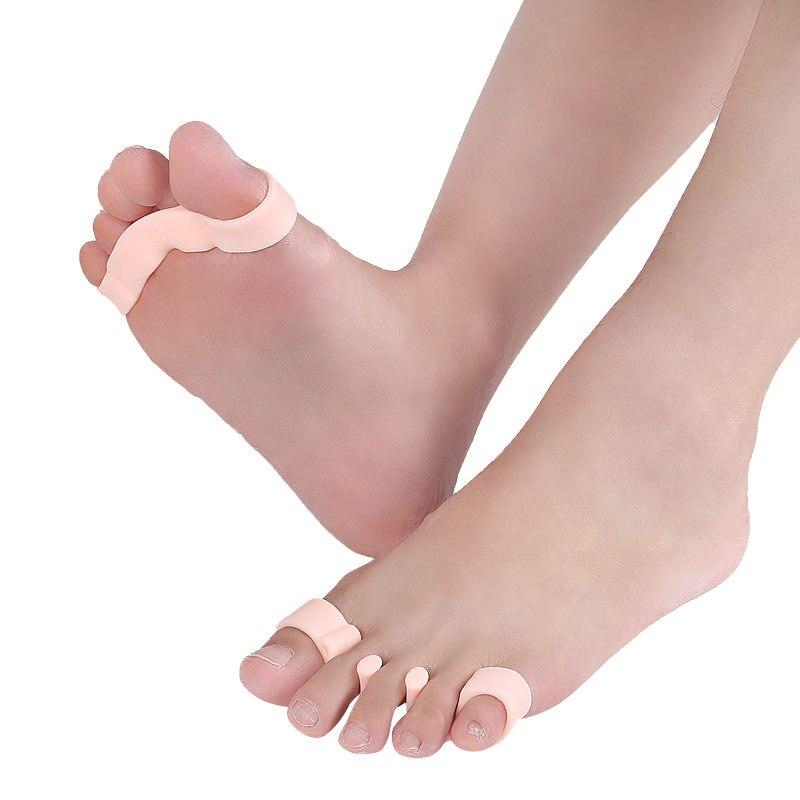 Almofadas Para Sapatos Unisex Light Weight Comfortable Jelly Orthopedic Toe Separator Health Care Foot Insoles E5601