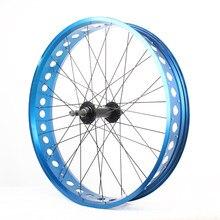 20/24/26 * 4.0 Rodas de bicicleta de gordura oca 36H 135 / 190mm 100mm de largura MTB de neve e bicicleta de praia rodado terno para bicicleta elétrica
