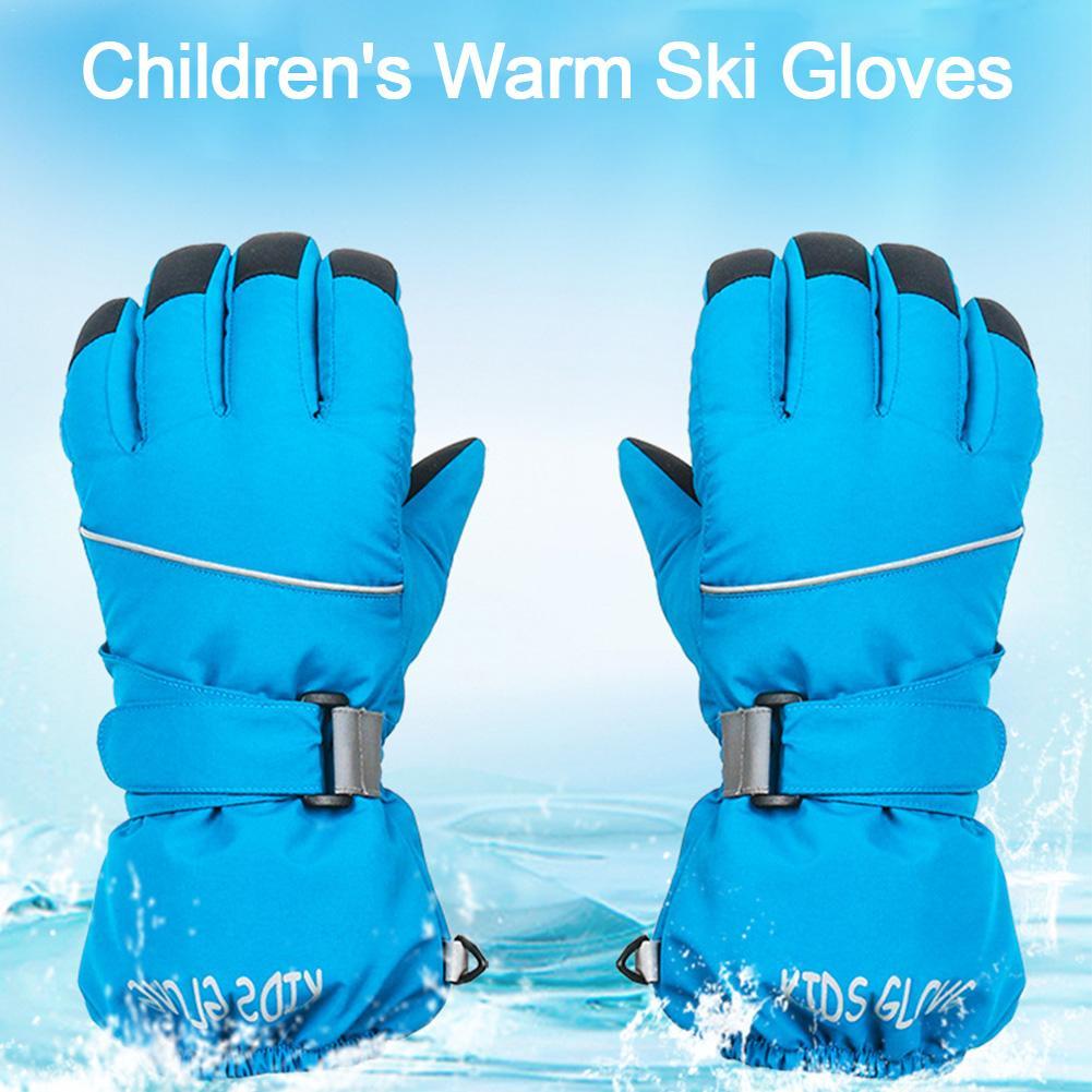 Professional Ski Gloves Girls Boys Waterproof Winter Warm Gloves Snow Kids Windproof Skiing Snowboard Riding Gloves