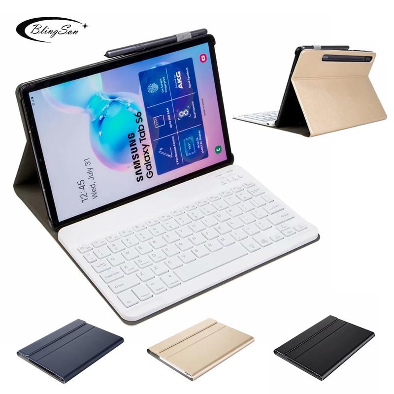 Inteligente para Samsung Couro do Plutônio Case Galaxy 2020 Sm-t860 – Sm-t865 T860 Fino Removível Teclado Tablet Capa Fina Suporte Tab s6 10.5