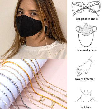 Women Glasses Chains Face Mask Necklace Strap Non-slip Eyeglass Rope Holder Cord Neck Sunglass Strap Eyewear For Unisex Jewelry