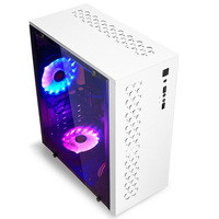 Light Edge Computer Chassis Desktop Household Office Business Host Side through Game ATX Motherboard Chassis