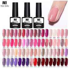 NEE JOLIE 60 Colors 8ml Gel Nail Polish LED UV For Gray Red Pink Soak Off Art Varnish Hybrid