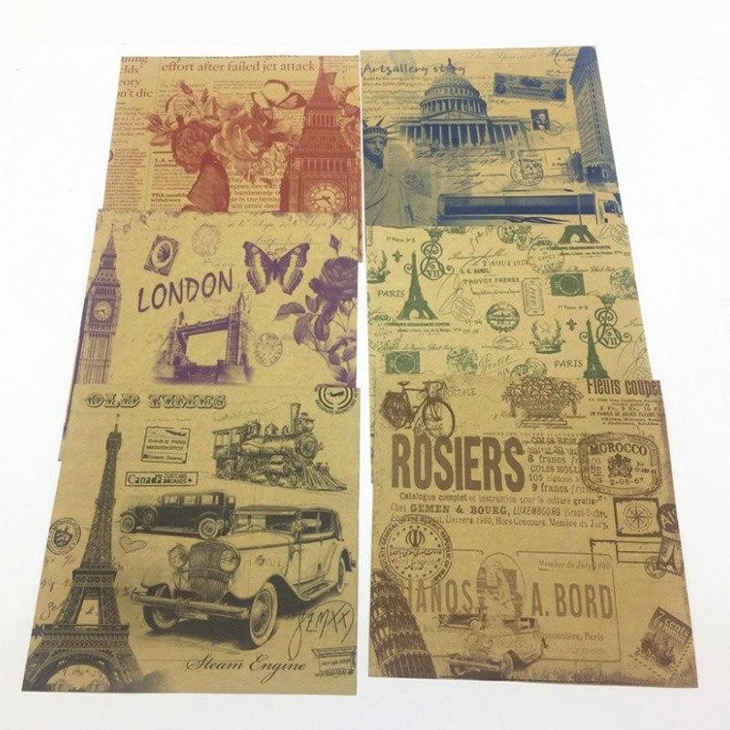 60 hojas/Paquete de Scrapbooking decorativo Vintage artesanía papel Kraft 15*15CM doble cara impresión hecha a mano papel plegable de origami DIY 6 uds. Desechables de papel no tejido bragas ropa interior señoras mujeres al por mayor