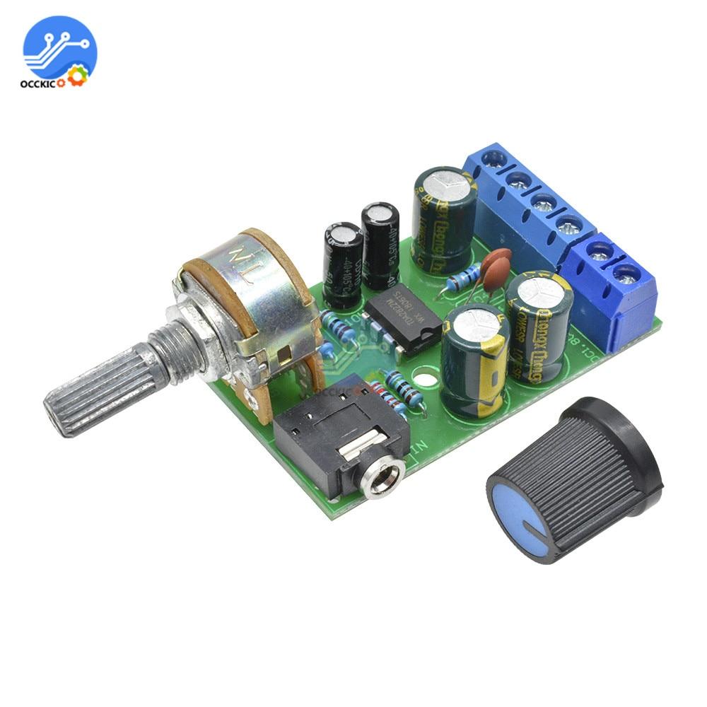 DC 1.8-12V TDA2822M 2.0 Stereo Audio Amplifier Board Dual Channel AMP AUX Amplifier Board Module For Arduino