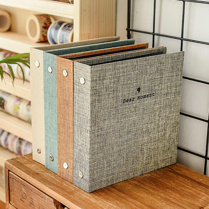 Fiber Cover Two Size Standard 3 Inch  5 Inch Photo Album MINI Photographic Paper Family Memory Record Souvenir  Foto Album Gifts